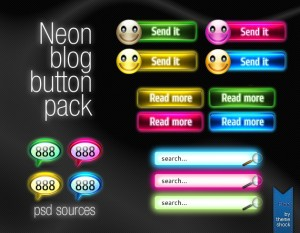 Neon button pack