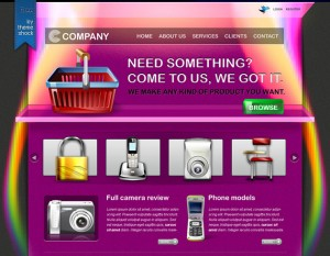 Products and ecommerce psd template