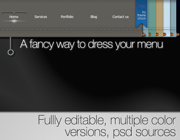 free psd original menu