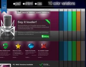 free psd audio template