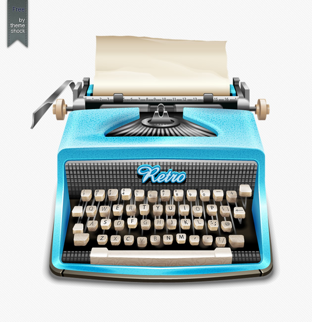 vector retro and vintage typewriter