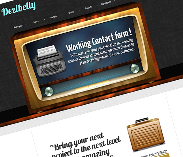 retro wordpres stheme vintage