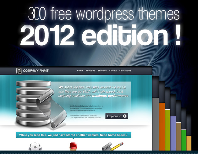 300 Free Word Press Themes! 2012 edition