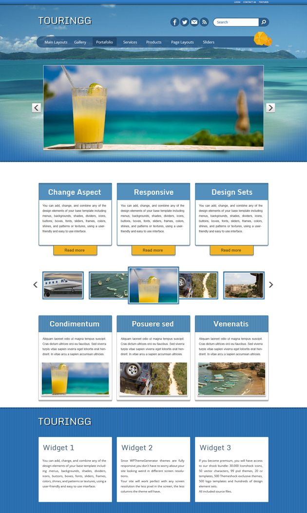 Tourism wordpress theme for If page template wordpress